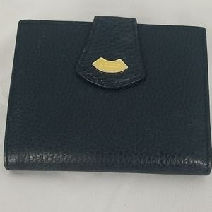 Bally Pebbled Leather Wallet With Kisslock